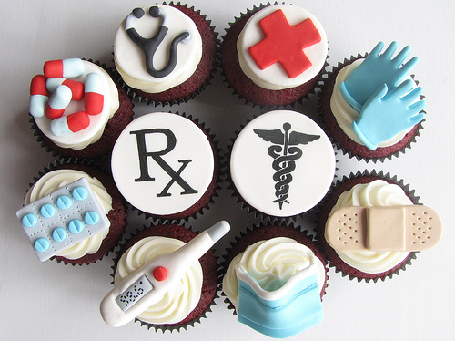 Doctor cupcakes: http://www.flickr.com/photos/clevercupcakes/4576733748/