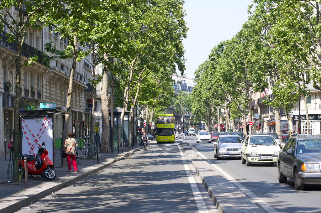 Pariisi on tunnettu bulevardeistaan. Boulevard Saint-Germain