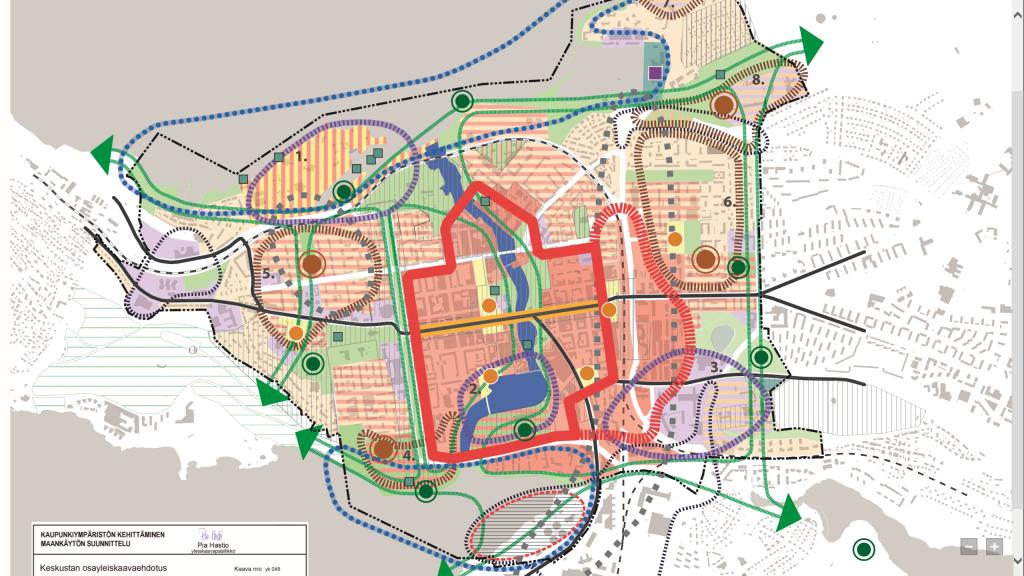 Osayleiskaavan alue ja maankäytön painopisteet